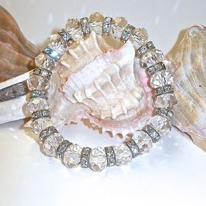 Size Small Crystal and Rhinestone spacer bracelet